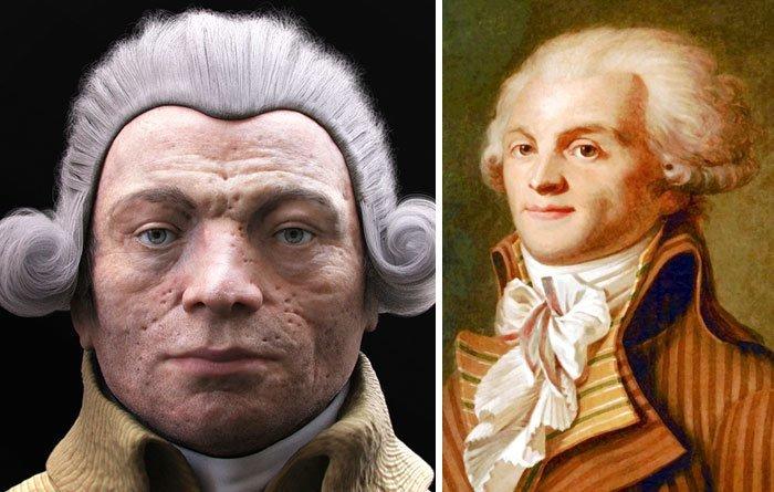 7. Максимилиан Робеспьер воссоздание, известные люди, история, лицо, люди прошлого, облик, реконструкции, реконструкция