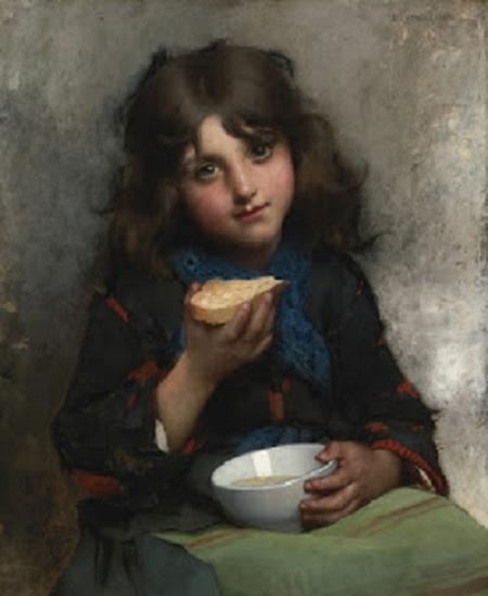 Полдник (Le gouter). (1880). Автор: Leon Bazile Perrault.